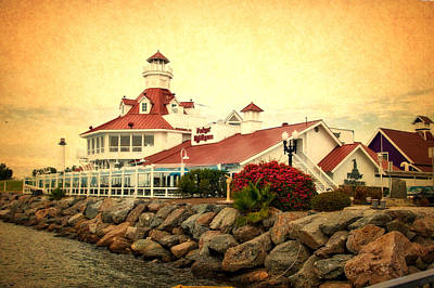 Cailiforna Long Beach Parkers Lighthouse Textured Print by Thomas Woolworth