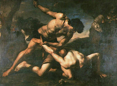 Cain Painting - Cain And Abel by Orazio Riminaldi