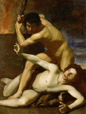 Painting - Cain Killing His Brother by Bartolomeo Manfredi
