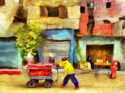 Africa Painting - Cairo Street Snapshot by George Rossidis