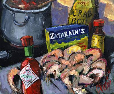 Cajun Boil Print by Carole Foret