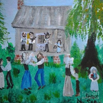 Gerry Painting - Cajun House Dance by Seaux-N-Seau Soileau