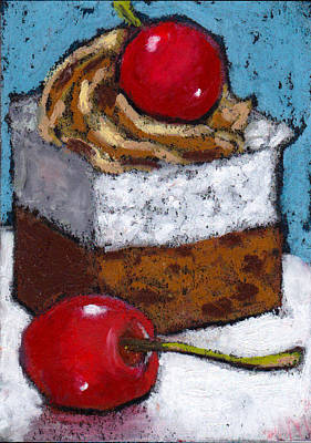 Pastel - Cake With Cherry On Top by Joyce Geleynse