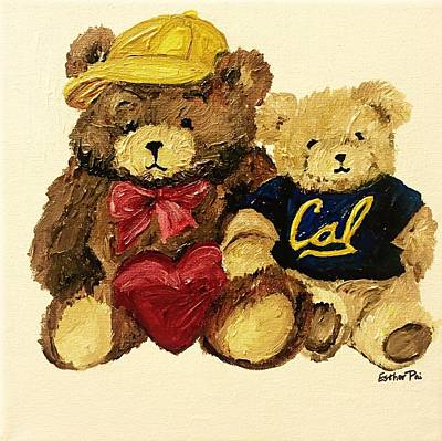 Pai Painting - Cal Bears by Esther Pai