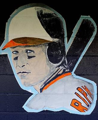 Baseball History Painting - Cal Ripken Jr. by Ralph LeCompte