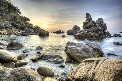 Seascape Photograph - Cala Dels Frares II, Lloret De Mar Catalonia by Marc Garrido