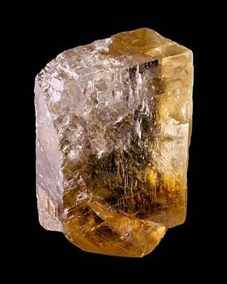 Calcite Crystal 2 Print by Jim Hughes
