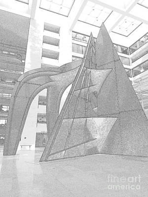 Calder Mountain 3 Print by Randall Weidner