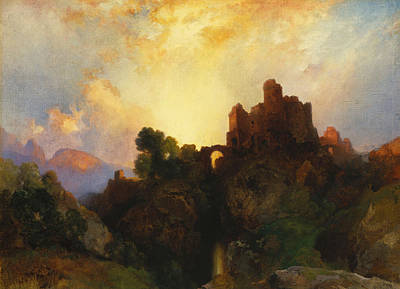 Castle Painting - Caledonia by Thomas Moran