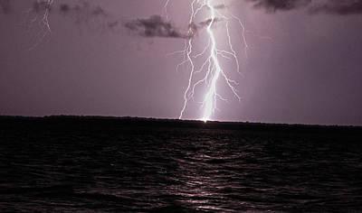 Lightning Photograph - Calibogue Island Lightning Strike by Ethan  Bryant