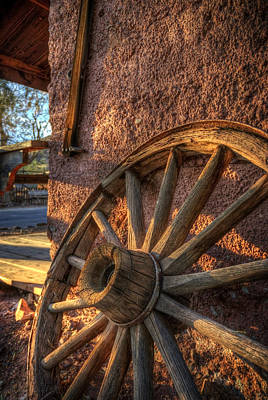 Old West Photograph - Calico Wheel by Wayne Stadler