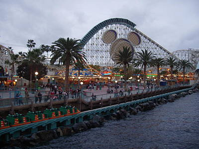 Rollercoaster Photograph - California Adventure by Monica Werner