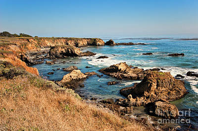 California Coast Rocky Cliffs Print by Dan Carmichael