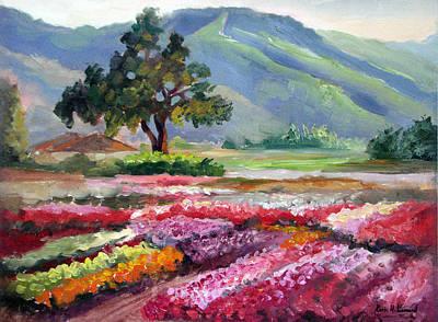 Iconic Painting - California Flower Farm by Karin Leonard