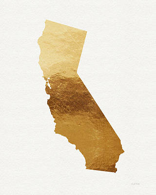 Gold Mixed Media - California Gold- Art By Linda Woods by Linda Woods