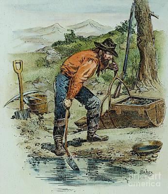 49er Photograph - California Goldminer, 1850 by Granger