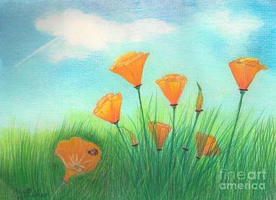 California Poppies Print by Janet Hinshaw