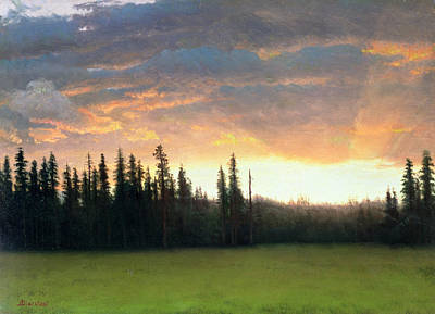 Meadow Painting - California Sunset by Albert Bierstadt