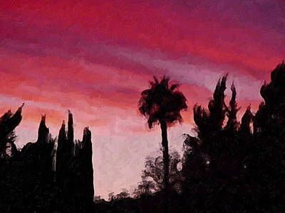 California Sunset Painting 1 Print by Teresa Mucha