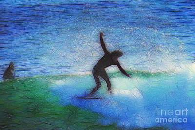 Surfers Photograph - California Surfer Abstract Nbr 5 by Scott Cameron