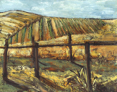 California Vineyard Print by Susan Adame