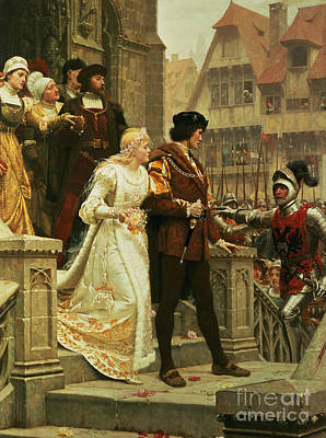 Challenge Painting - Call To Arms by Edmund Blair Leighton