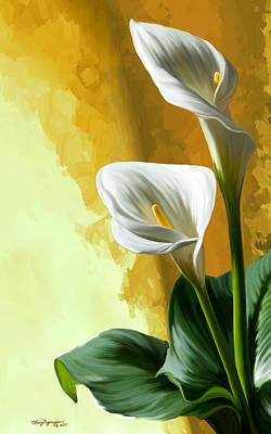 Calla Digital Art - Calla Lily by Thanh Thuy Nguyen