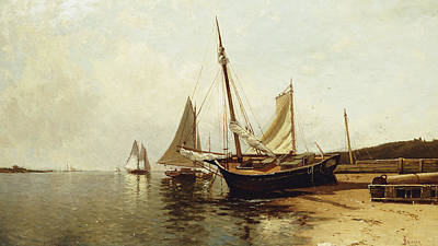 Calm Morning, Portland Harbor Print by Alfred Thompson Bricher