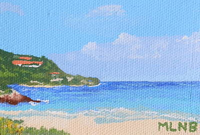 Calm Water In Guana Bay Print by Margaret Brooks