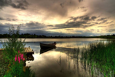 Calm Waters On Lough Erne Print by Kim Shatwell-Irishphotographer