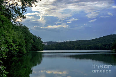 Calmness Of Radnor Lake Between Summer Rain Print by Photo Captures by Jeffery