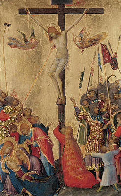 Crucifix Painting - Calvary by Simone Martini