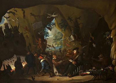 Calvin Painting - Calvin In Hell  by Egbert van Heemskerck II