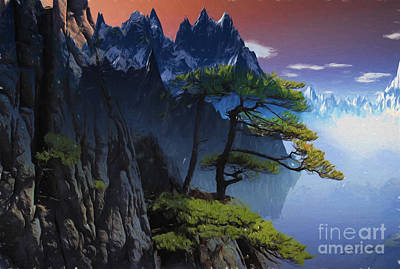 Calypso Painting - Calypso Mountains Oil On Canvas by Heinz G Mielke