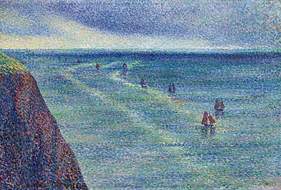 Maximilien Luce Painting - Camaret Fishing Boats On The Coast by Maximilien Luce