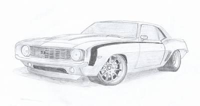 Camaro Ss Original by Leslie Schofield