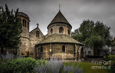 Suburban Digital Art - Cambridge Round Church by Svetlana Sewell