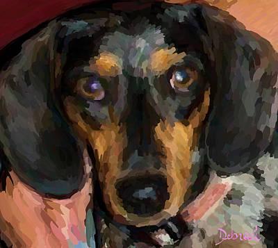Dachshund Puppy Digital Art - Camden by Deborah Rosier