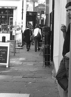 Angels Smoking Photograph - Camden Passage by Judi Saunders