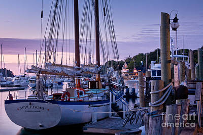 Mid-coast Maine Photograph - Camden Windjammer Dawn by Susan Cole Kelly