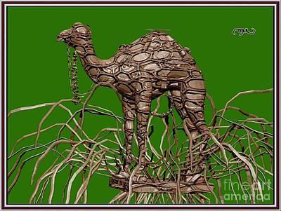 Camel Mixed Media - camel carving CC by Pemaro