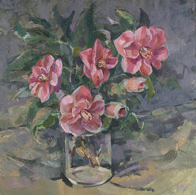 Camellias Print by Sue Wales