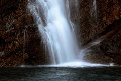 Tourist Attraction Digital Art - Cameron Falls In Waterton Lakes National Park Of Alberta by Mark Duffy