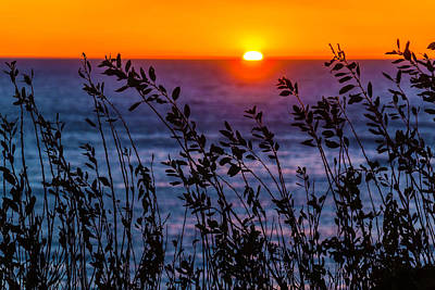 Costal Photograph - Calmness At Sunset by Garry Gay
