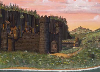 Castle Drawing - Camlochlin Castle by James Lyman