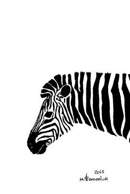 Donkey Mixed Media - Camouflaged Profile by Kayleigh Semeniuk