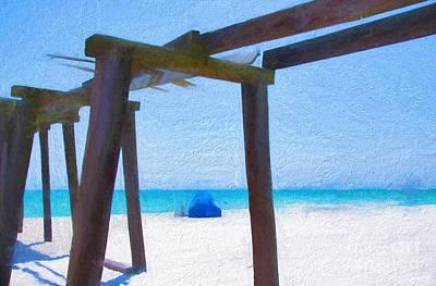 Camp Helen State Park Pier Panama City Beach Florida Art Print by Vizual Studio