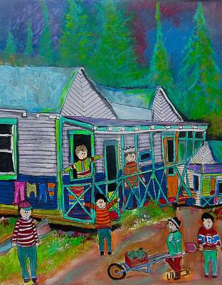 Painting - Camp In Prefontaine 1949 by Michael Litvack