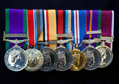 Campaign Medals Print by Peter Jarvis