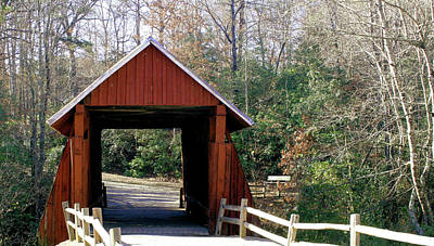 Campbells Covered Bridge Photograph - Campbell's Covered Bridge 2 by Cathy Harper